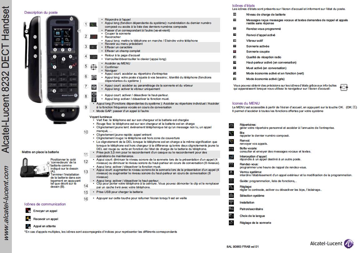 Alcatel-Lucent 8232 handset