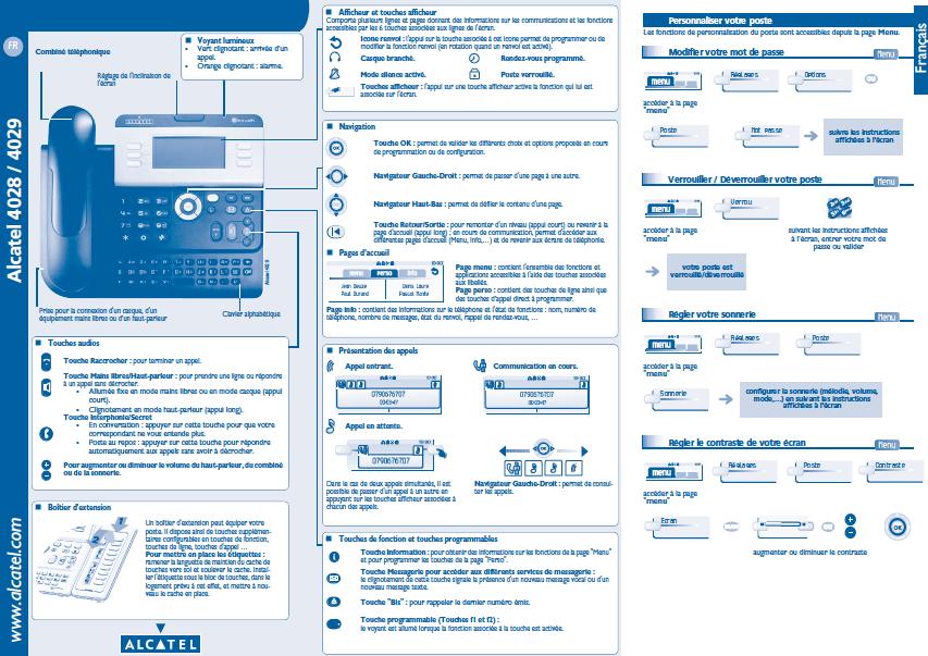 User guide Alcatel-Lucent 4029